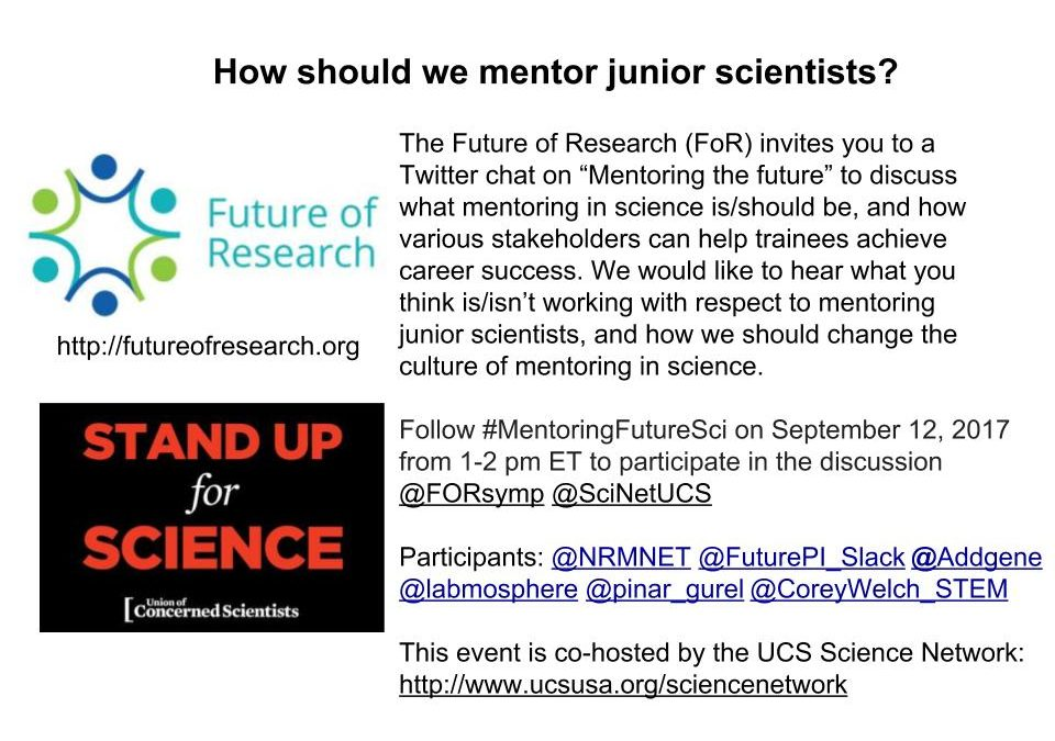 Tweetchat on Mentoring the Future, September 12