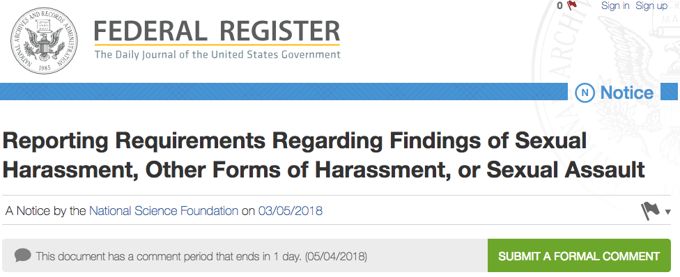 Future of Research Board of Directors issues response to NSF Sexual Harassment policy