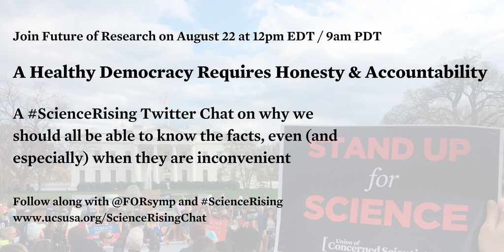 #ScienceRising Tweetchat discussing a healthy democracy (and the role ECRs can play) – Wednesday, August 22 at 12pm EDT